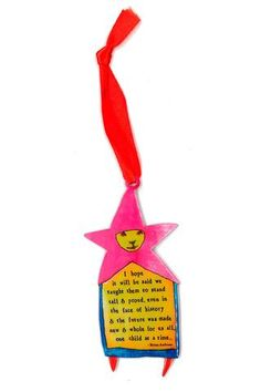 "2016 One Child Ornament | StoryPeople .... ""I hope it will be said we taught them to stand tall & proud, even in the face of history & the future was made new & whole for us all, one child at a time."""