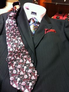 David Donahue shirt, Armani blackish suit, Zenga tie (on shirt)