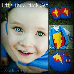 Set masque de super héros - Cape, masque et brassards on Etsy, 57,71$ CAD
