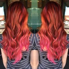 Image result for red and pink hair