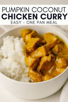 Canned Pumpkin Recipes, Pureed Food Recipes, Curry Recipes, Easy Healthy Recipes, Soup Recipes, Healthy Chicken Curry, Coconut Curry Chicken, Chicken Pumpkin, Kitchens