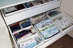 Baby nursery organisation and storage ideas. Baby Bedroom, Baby Boy Rooms, Baby Boy Nurseries, Modern Nurseries, Room Baby, Child Room, Kids Room, Nursery Organisation, Dresser Organization