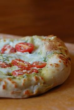 A Simple Pesto Pizza with Whole Wheat Crust