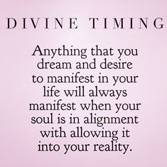 Soulmate And Love Quotes: Divine timing. - Hall Of Quotes Spiritual Love, Spiritual Quotes, Spiritual Values, Time Quotes, Words Quotes, Sayings, Twin Flame Love, Twin Flames, Magic Quotes