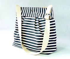 Stockholm navy and white Pleated French Messenger. Love this bag!!!