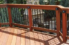 metal and wood railings for decks - Google Search