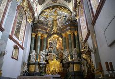 Tschenstochau - Częstochowa, Jasna Góra, Basilika Mariä Himmelfahrt, Hochaltar - Basilica of our Lady Assumed into Heaven, high altar   da HEN-Magonza