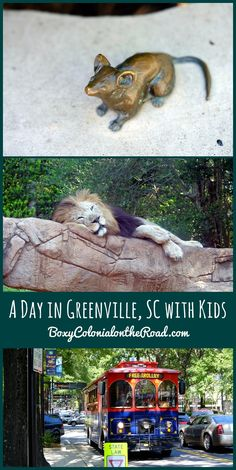 Our day in Greenville, SC with kids: Greenville Zoo, Mice on Main, Falls Park on the Reedy, and a free trolley ride