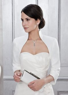 Braut Bolero Jacke / Brautjacke Taft