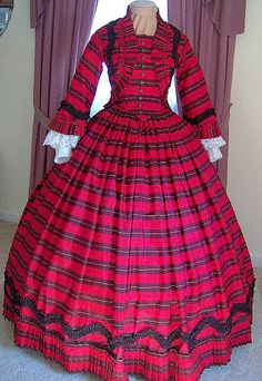 FOR ORDERS ONLY  1800s Victorian Dress 1860s Civil by MissLisa1867, $450.00