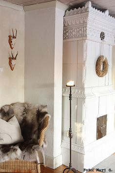 Another exquisite ceramic fireplace/stove.