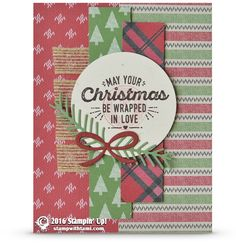 CARD: Wrapped in Warmth and Love Christmas Card | Stampin Up Demonstrator - Tami White - Stamp With Tami Crafting and Card-Making Stampin Up blog