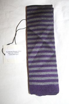 92b93a8252a8 BEN SHERMAN TAILORING LONDON PURPLE GREY STRIPES NARROW [2 1/4'] SILK TIE  MINT #fashion #clothing #shoes #accessories #mensaccessories #ties (ebay  link)