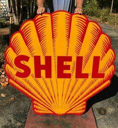 Original Shell Gasoline Porcelain Sign