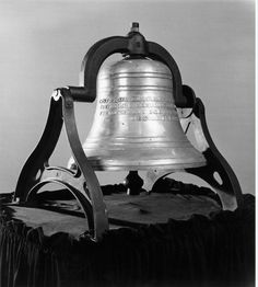 "The Mental Health Bell after casting 1956. The inscription reads ""Cast from shackles which bound them, this bell shall ring out hope for the mentally ill and victory over mental illness.""   More information on the Bell is available here: http://www.mentalhealthamerica.net/go/bell"