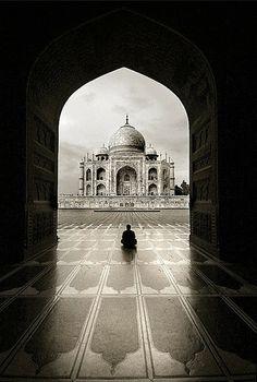 Love this shot! Taj Mahal - Agra, India