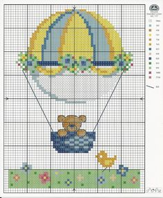 Olá... gráficos mega fofos para bordar!! Baby Cross Stitch Patterns, Cross Stitch Baby, Cross Stitch Kits, Cross Stitch Designs, Cross Stitch Cards, Cross Stitching, Cross Stitch Embroidery, Disney Home Decor, Lap Quilts