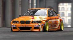 BMW E46 M3 orange deep dish slammed