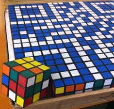 World's First QR Code Made From Rubik's Cubes