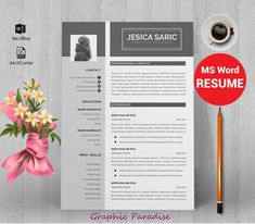 Resume template Professional resume template instant image 0
