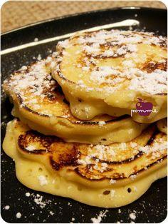 ..Pancakes à la ricotta et aux pommes..