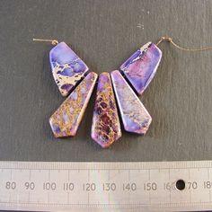 Purple Sea Sediment Jasper Fan Bead Set for Jewellery Making - Focal Set £3.00