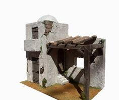 casita pesebre Christmas Nativity Scene, Christmas Villages, Ho Scale Buildings, Ceramic Houses, School Projects, Cribs, Xmas, Christmas Ideas, Objects