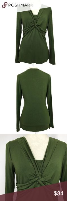 """Boden Twist Front Top Size 10 Green WL610 Bust: 18""""   (Armpit to Armpit) Length: 25.5""""  Condition: No Rips; Light spots on the upper back left shoulder (Not Noticeable)  96% Viscose 4% Elastane   📦Orders are shipped within 24hrs! {Except weekends}📦  🚫No Trades🚫No Holds🚫 Boden Tops Blouses"""