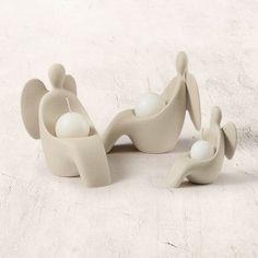 angeli portacandele moderno