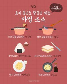 요리 똥손도 황금손되는 비법소스 6 - 지적 존재들의 B컷 - 비주얼다이브 Food Menu, A Food, Food And Drink, Cooking Tips, Cooking Recipes, Korean Food, Food Design, Recipe Collection, Food Plating