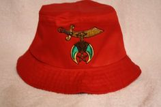 e3cc26d4216 Shriner Noble floppy bucket hat with scimitar logo