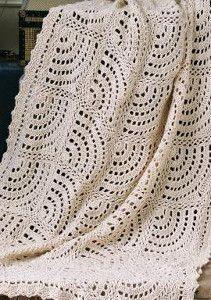 Swirling Fans Crochet Lace Pattern | AllFreeCrochetAfghanPatterns.com