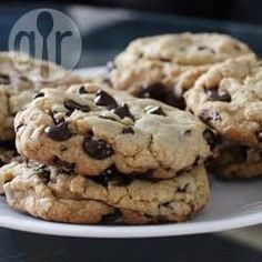 Chocolate chip cookies - Nederlands Bakken op 160°C voor +- 17 minuten