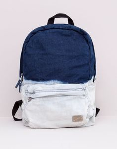 Pull&Bear - man - bags and wallets - denim tie-dye rucksack - indigo - 05820510-V2015