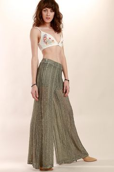 What's New at bobii . Shop just-in bobii London's new arrivals from this seasons best dresses, accessories to crop tops, jackets & more. Lace Pants, Palazzo Pants, Lace Detail, Boho, Bohemian Summer, Nice Dresses, Pants For Women, Two Piece Skirt Set, Couture