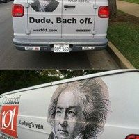 Funny pictures about Bach off. Oh, and cool pics about Bach off. Also, Bach off. Music Jokes, Funny Music, Visual Puns, Band Jokes, Band Nerd, Funny Puns, Hilarious, Funny Stuff, Funny Things