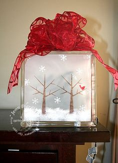 Glass block decorations