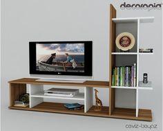 Monet Tv Sehpası (Ceviz_Beyaz)