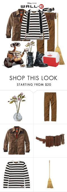 """Wall-E"" by yerd213 ❤ liked on Polyvore featuring Patagonia, L.L.Bean, Visvim, Disney, Dickies, WALL, men's fashion and menswear"