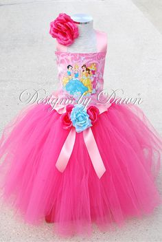 Custom Made Disney Princess Dress Skirt Corset by mytutuboutique, $60.00....perfect for Miss birthday at disney?