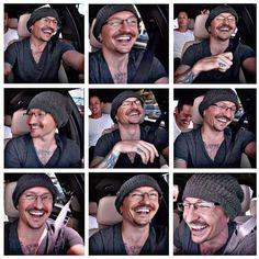 Chester's PRICELESS smile, from Carpool Karaoke!
