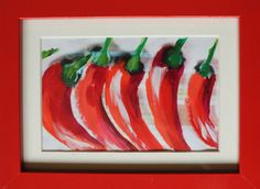 Chilli Peppers on Etsy, £30.00  Chilli pepper painting