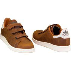 Baskets mode adidas Originals Stan Smith CF B24537 Brun 350x350