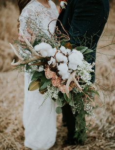 Cotton + antler bouquet