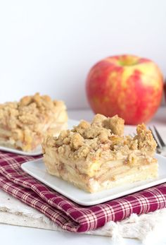 These apple pie crumb bars are so darn tasty. They have a shortbread layer, apple pie filling and a brown sugar crumb topping. It's the bar you need to eat.
