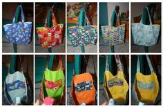 Tote bags for end of year teacher gifts (2012) per this tutorial: http://www.skiptomylou.org/2009/07/17/how-to-make-a-simple-reversible-totebag/