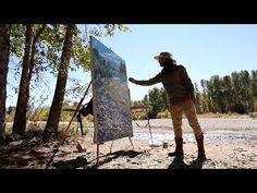 Plein Air & Studio Painting: 60x54 Montana Landscape - YouTube
