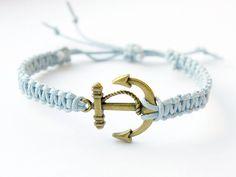 Anchor Blue Bracelet Wish Bracelet by KatrinSArt on Etsy, $9.00