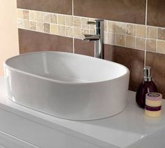 Sorano Counter Top Basin - Now £59. www.victoriaplumb.com