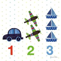 1,2,3 by Sarah Millin, available from Wild Apple Graphics, Vermont